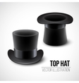 Black top hat isolated on vector image