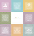 Set of logos and patterns for a yoga studio vector image