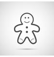Icon Christmas gingerbread man for holiday season vector image