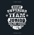 Rugby junior team emblem vector image