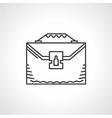 Black line icon for briefcase vector image