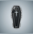 coffin logo on the grey bacground vector image