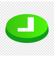 confirmation button isometric icon vector image