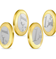 full set of one euro coins vector image