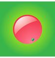 Glossy grapefruit vector image