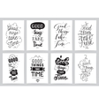 Inspirational cards 8 set Typographical design vector image