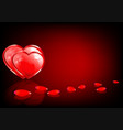 red design with two hearts vector image