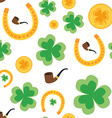 Seamless background for St Patricks Day Isolated vector image