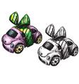 sketch of a toy car vector image