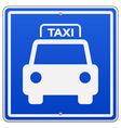 Taxi Blue Sign vector image