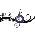 the symbols of music on a white ba vector image