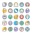 Map and Navigation Cool Icons 1 vector image