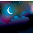 night vector image
