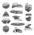 road travel company agency template icons vector image vector image