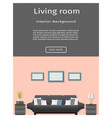 website banner for modern living room interior vector image vector image