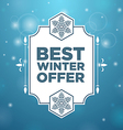 Best winter offer in beautiful frame vector image
