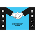 Business partnership vector image