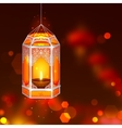 Hanging kandil in Diwali night vector image vector image