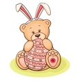 easter teddy vector image vector image