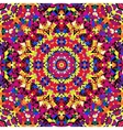 bright kaleidoscope pattern vector image