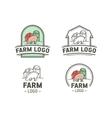 Farm logo set vector image