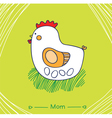 mom hen vector image
