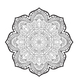 mandala pattern of black and white vector image