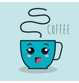 cup coffee cartoon with facial expression isolated vector image