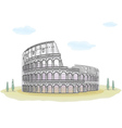 Colosseum - sketch drawing vector image vector image