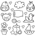 art of baby theme doodles vector image