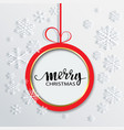 glowing red christmas ball concep vector image