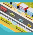 resort city transport background vector image