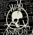 War and anarchy poster vector image