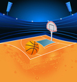 basketball sport stadium vector image
