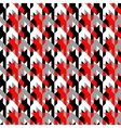 Hounds-tooth patterns in classic colors vector image
