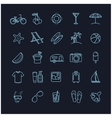 summer thin line icons set vector image vector image