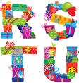 RSTU - english alphabet vector image vector image