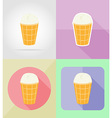 ice cream flat icons 09 vector image