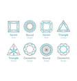 abstract logo or emblems set vector image