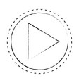 play button isolated icon vector image