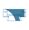 Printer device technology office paper supplies vector image