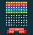 Universal Flat icon set vector image