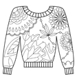 Pullover coloring vector image