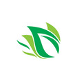 eco leaf nature logo image vector image