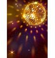 golden disco ball background vector image