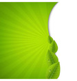 Green Burst Poster With Leaves vector image vector image