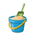 Sand Bucket and shovel vector image vector image
