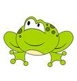 Cartoon sitting frog Isolated vector image