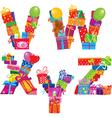 VWXYZ - english alphabet vector image vector image