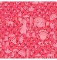 Vintage modern Happy valentines day flat pattern vector image